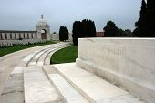 Tyne Cot brittish memorial cemetery of the first world war in Passendaele (Flanders Fields) poster