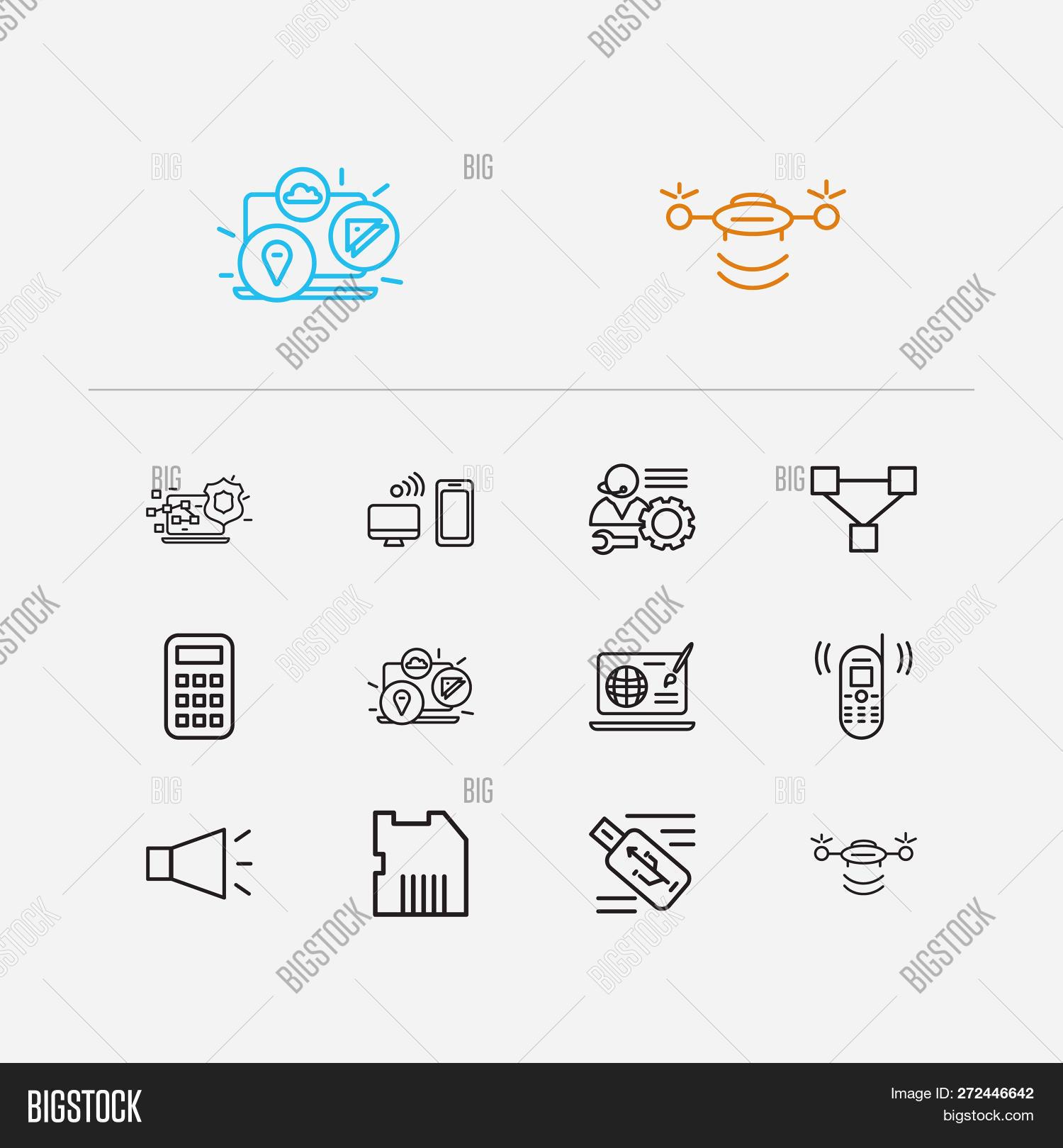 Electronics Icons Set Image & Photo (Free Trial)   Bigstock