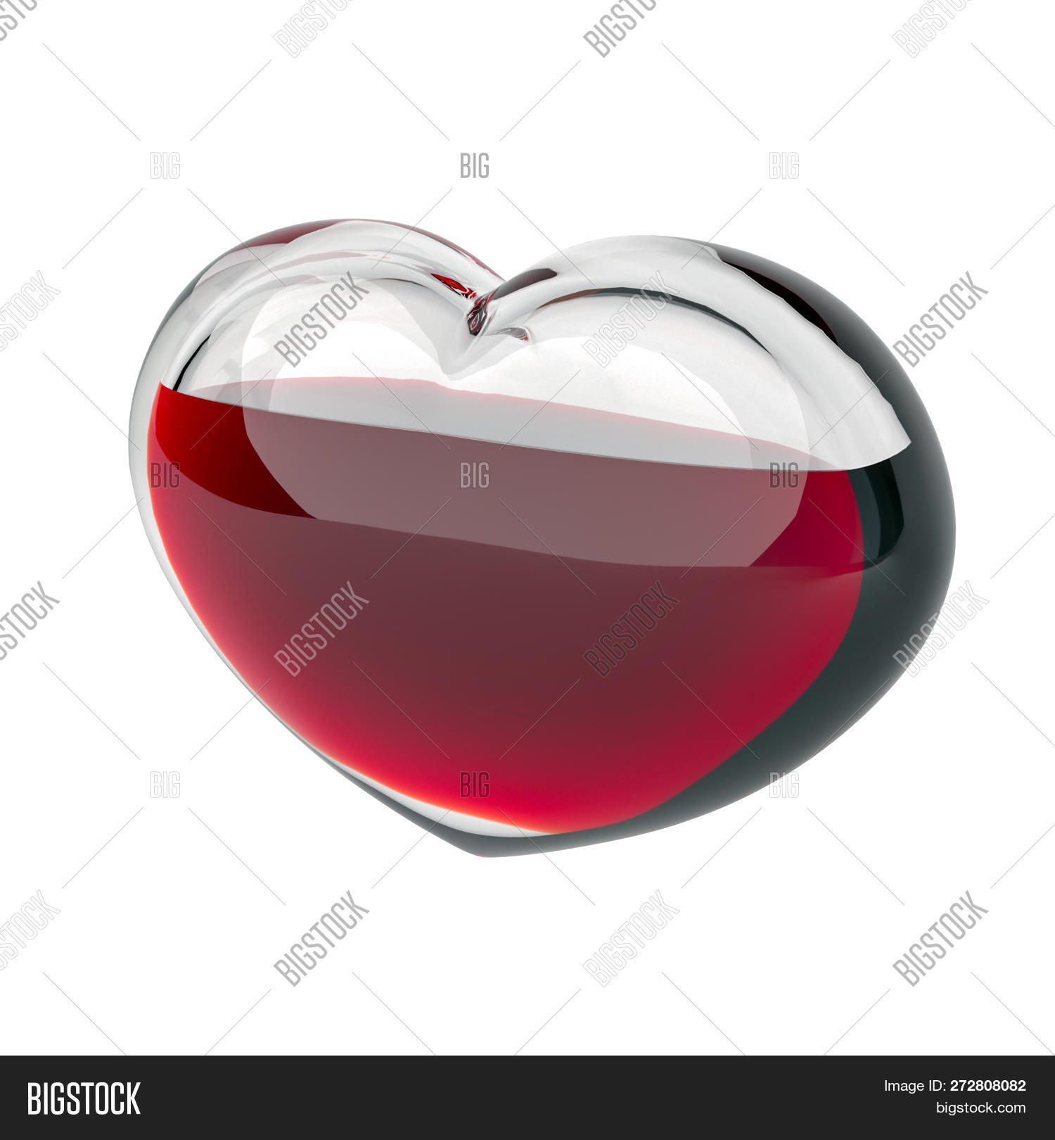 Glass Heart Filled Red Image & Photo (Free Trial) | Bigstock