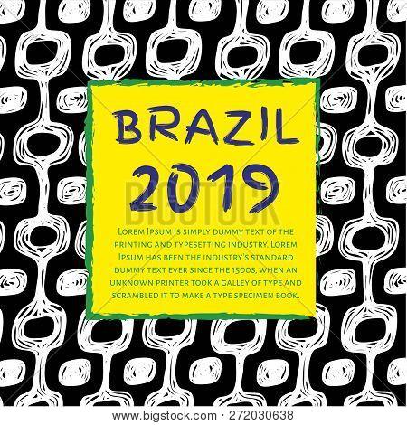 Ipanema Beach Pattern. Brasil Style Pattern. Happy 2019 New Year.