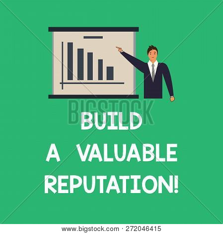 Conceptual Hand Writing Showing Build A Valuable Reputation. Business Photo Text Good Service For Gr