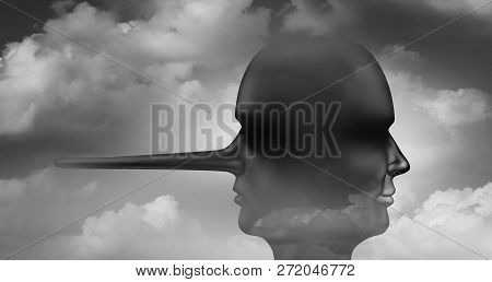 Two Faced Person As An Abstract Concept For Deceit And Deceitfulness Psychology As Contrasting Heads