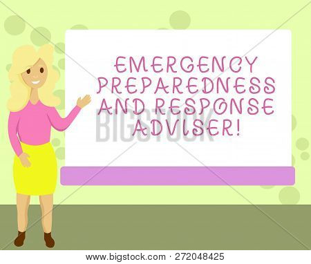 Conceptual Hand Writing Showing Emergency Preparedness And Response Adviser. Business Photo Showcasi