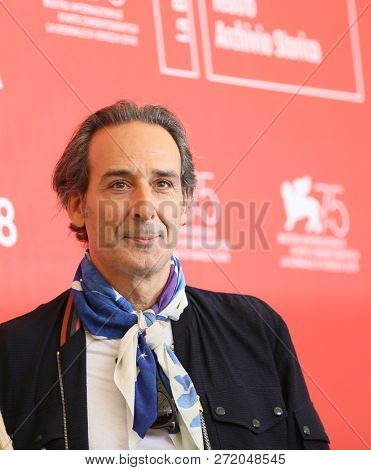Alexandre Desplat attends 'The Sisters Brothers' photocall during the 75th Venice Film Festival at Sala Casino on September 2, 2018 in Venice, Italy.