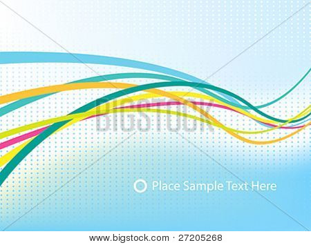 abstract vector background-colorful waves and lines