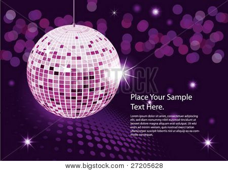 Disco ball. vector abstract background night party poster