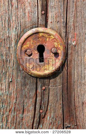 keyhole of old door