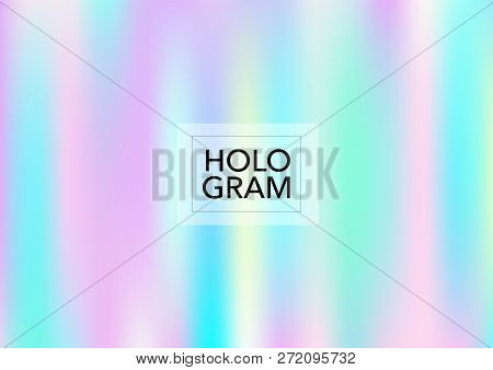 Magic Hologram Lights Vector Background. Luxury Trendy Tender Pearlescent Color Overlay. Rainbow Hol