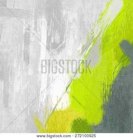 Illustration of a modern green grey color painting background