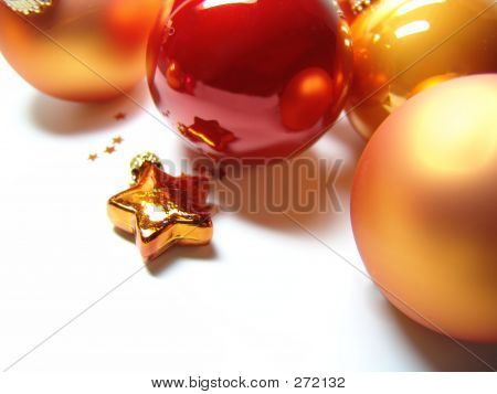 Christmas Baubles And Star