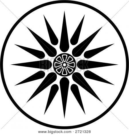 Macedonia Symbol Black