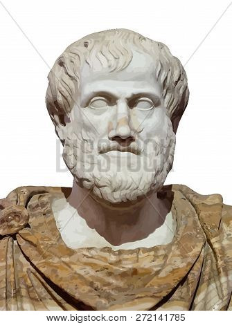Aristotle Greek Ancient Classic Philosopher  History Statue Illustrationaristotle Greek Ancient Clas