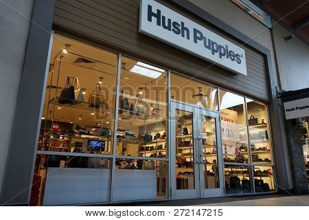 Genting Highlands, Malaysia- Dec 03, 2018 : Hush Puppies Store At Genting Highlands Premium Outlets.