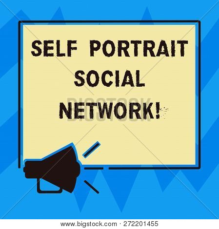 Text Sign Showing Self Portrait Social Network. Conceptual Photo Selfie For Online Sharing Smartphon