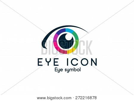 Eye Icon Eye Symbol Eye Logo Flat Colorful Vector