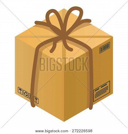 Fragile carton box icon. Isometric of fragile carton box vector icon for web design isolated on white background poster