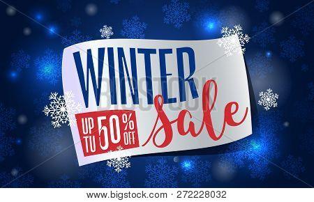 Winter Final Sale Concept Banner. Cartoon Illustration Of Winter Final Sale Vector Concept Banner Fo