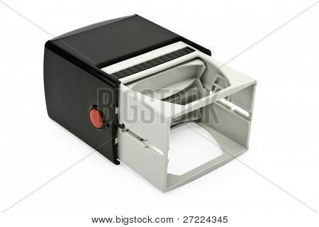 Rubber stamp isolated on whit