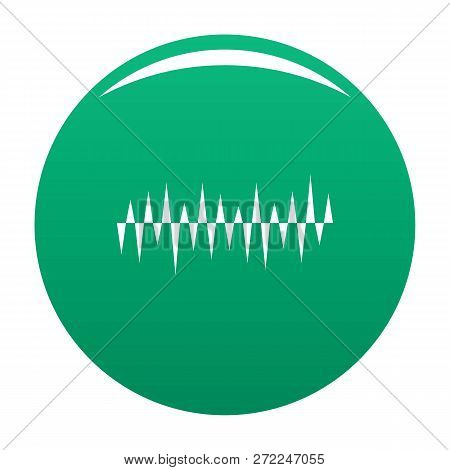 Equalizer Pulse Icon. Simple Illustration Of Equalizer Pulse Vector Icon For Any Design Green