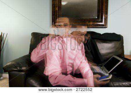 Home Or Office - Businessman Multitasking