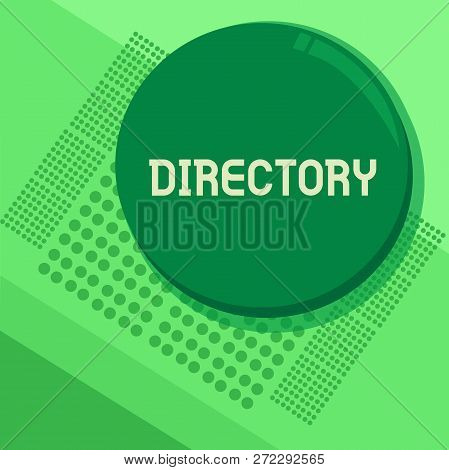 Handwriting Text Directory. Concept Meaning Book Or Website Listing Individuals Organizations Alphab