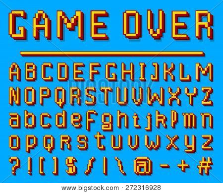 Pixel Font  8-bit Vector & Photo (Free Trial) | Bigstock
