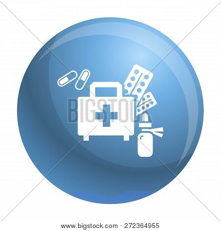 Homeless First Aid Kit Icon. Simple Illustration Of Homeless First Aid Kit Vector Icon For Web Desig
