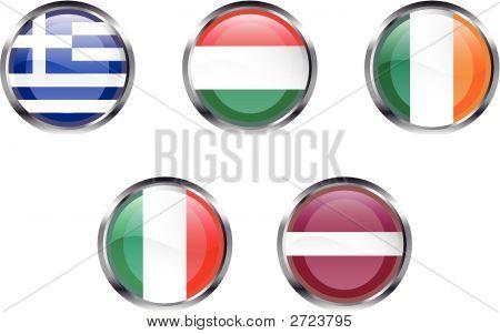 European Flag Buttons - Part 3