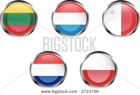 European Flag Buttons - Part 4
