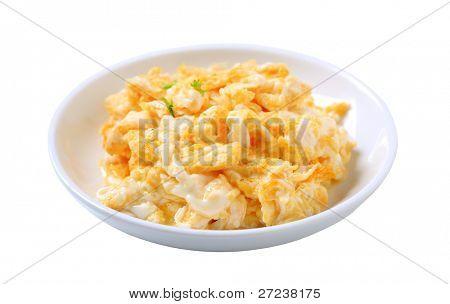 Scrambled eggs in a plate - studio