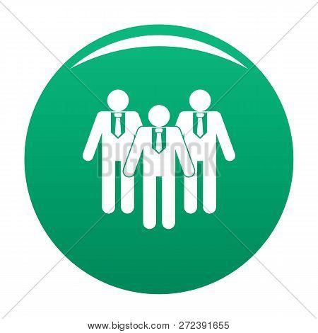 Board Directors Icon. Simple Illustration Of Board Directors Icon For Any Design Green