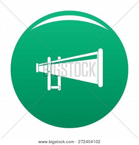 Portable Megaphone Icon. Simple Illustration Of Portable Megaphone Icon For Any Design Green