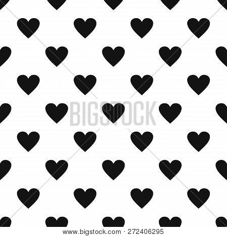 Dull Heart Pattern Seamless Repeat Geometric For Any Web Design
