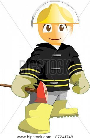 Firefighter, ready for action.