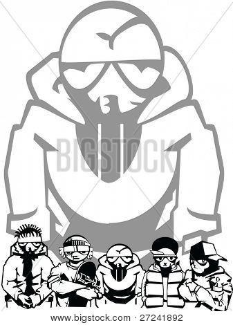young urban gang member