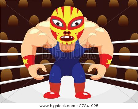 mexican style masked wrestler