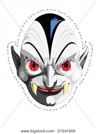 Cut out and keep Dracula mask