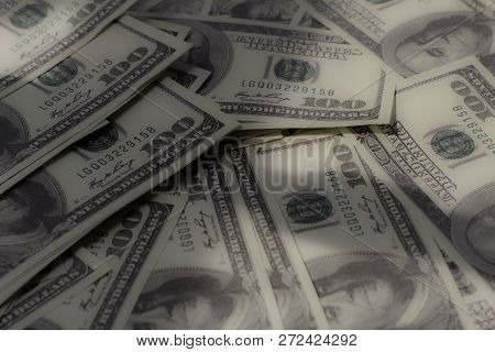 Soft Image Piles Of Money. Concept Of Finance