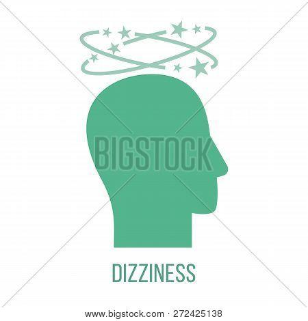 Icon Of Common Symptom Of Panic Disorder - Dizziness. Vector