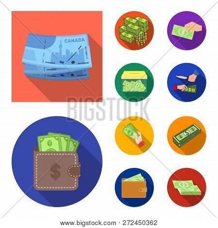 Isolated Object Of Cash And Currency Symbol. Collection Of Cash And Stack Stock Vector Illustration.