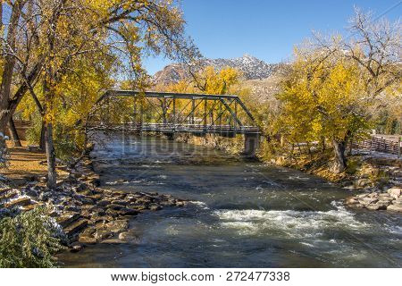 Photograph Of The Beautiful Arkansas River As It Passes Beneath A Trestle Bridge In Canon City, Colo