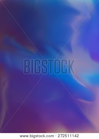 Vector Holography Foil Rainbow Iridescent Texture. For Fantasy And Fashion Print In Blue And Purple