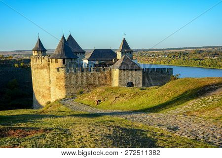 Ancient Fortress On The Banks Of The Dnister River, Khotyn Fortress, Ukraine.