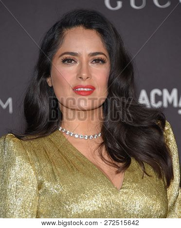 LOS ANGELES - NOV 03:  Salma Hayek arrives to the 2018 LACMA Art + Film Gala  on November 3, 2018 in Hollywood, CA