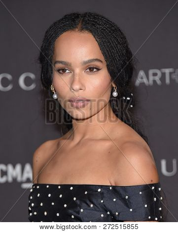 LOS ANGELES - NOV 03:  Zoe Kravitz arrives to the 2018 LACMA Art + Film Gala  on November 3, 2018 in Hollywood, CA