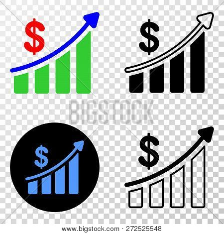 Geographic Combination Of Dotted Success Financial Chart And Grunge Seal Stamp. Mosaic Vector Succes