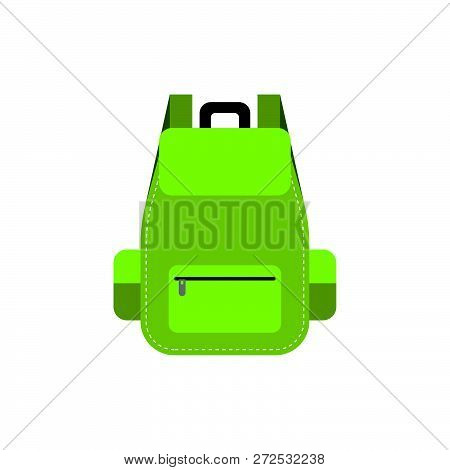 Bag Pack Icon, Flat Design Camping Equipment Concept.