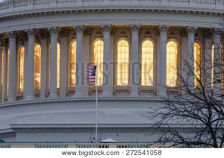 United States Capitol Building at night - Washington DC United States of America