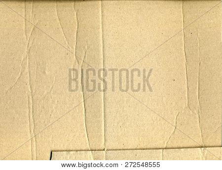 Old Crumpled Brown Paper Texture, Brown Wrinkle Recycle Paper Background, Creased Beige Paper Textur