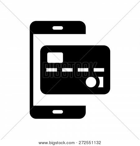 Credit Card On Smart Phone, Payment By Credit Card On E Commerce, Bank And Financial Related Icon, G